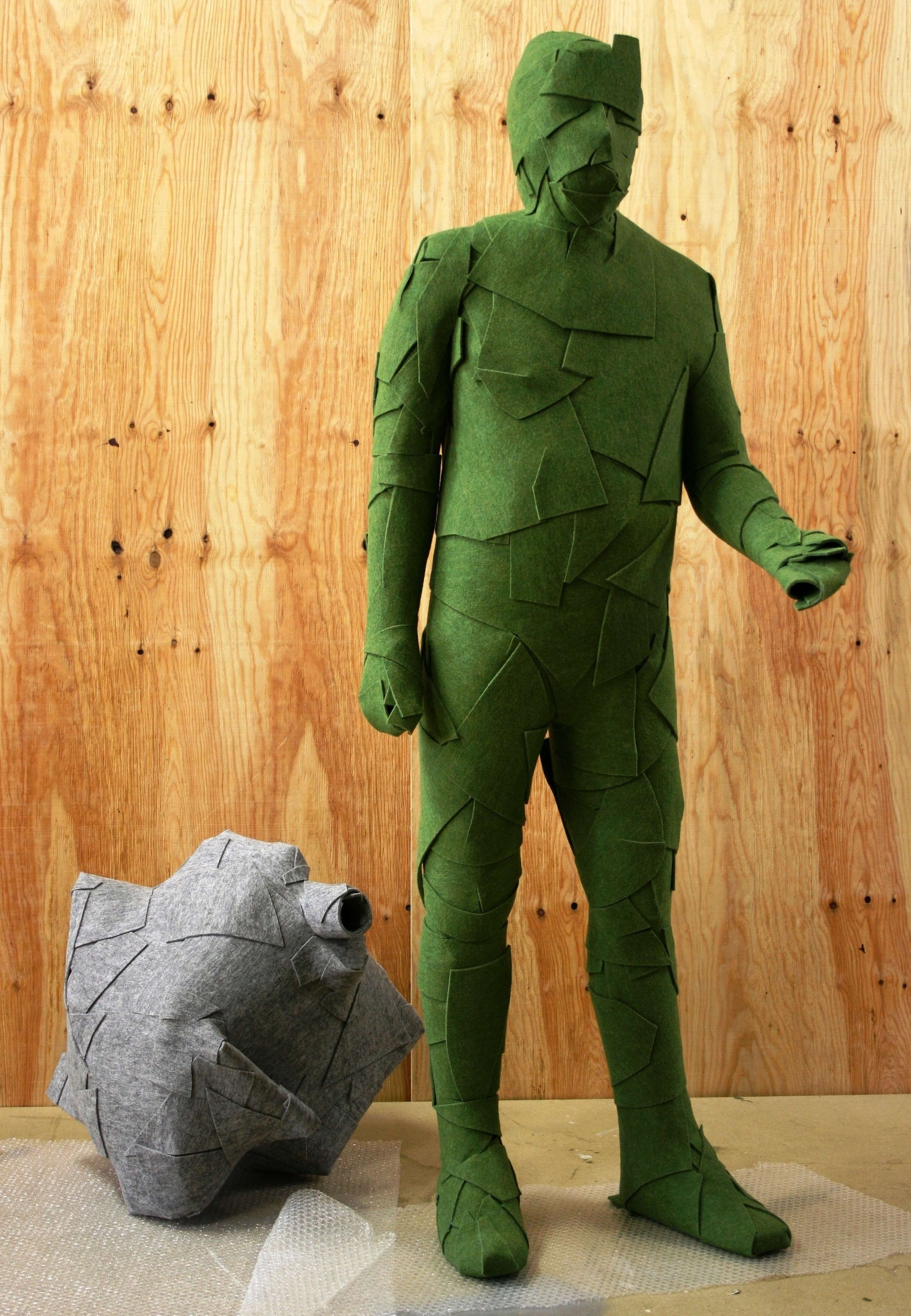 Marcus Geiger Filzskulptur grün